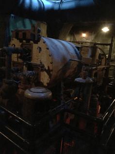 old HVAC mechanical room