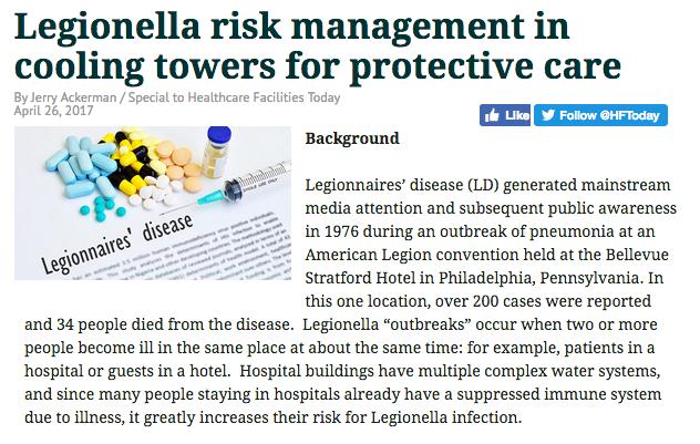 Legionella Risk Management for Hospitals