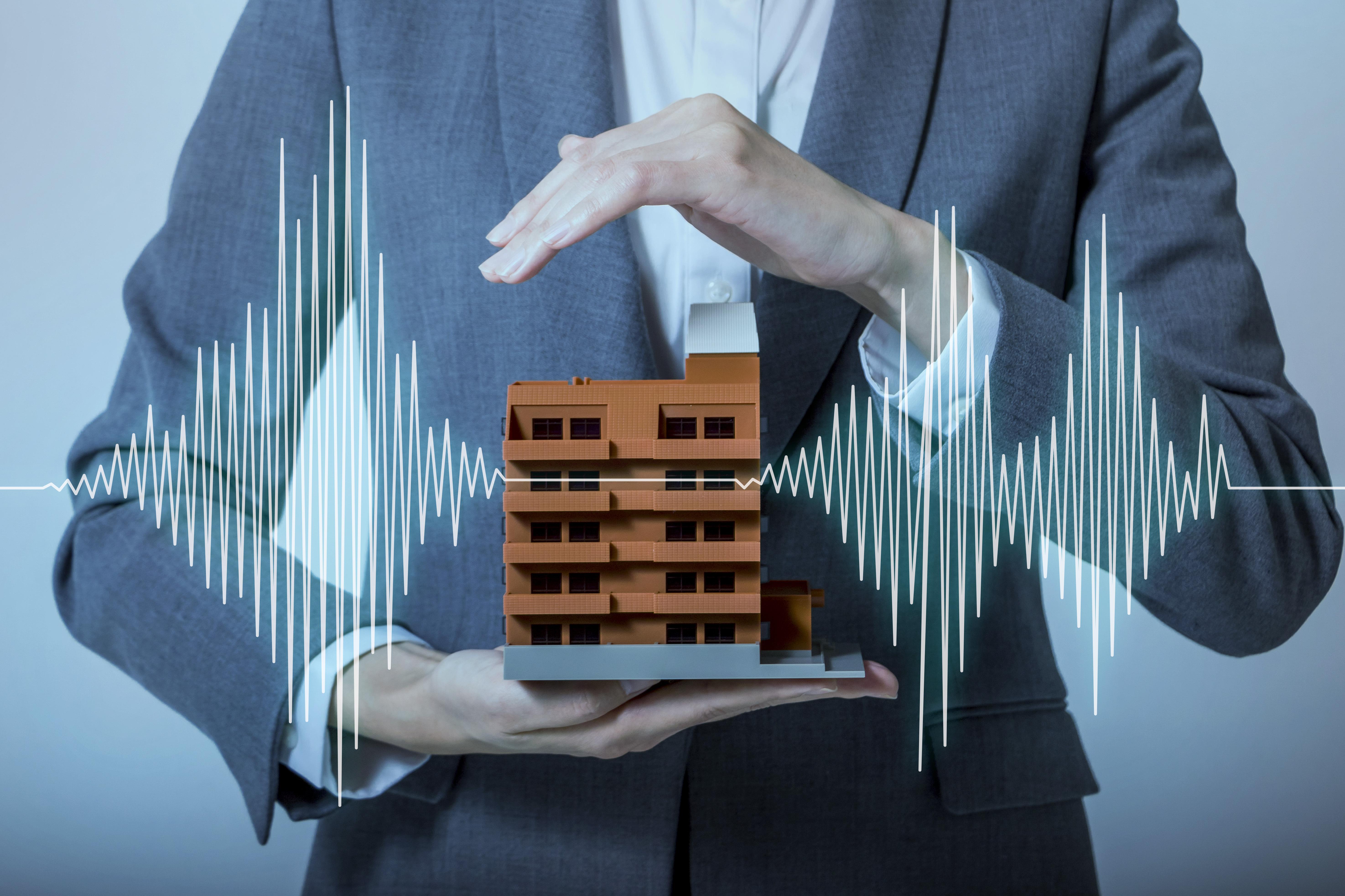 Seismograph through building